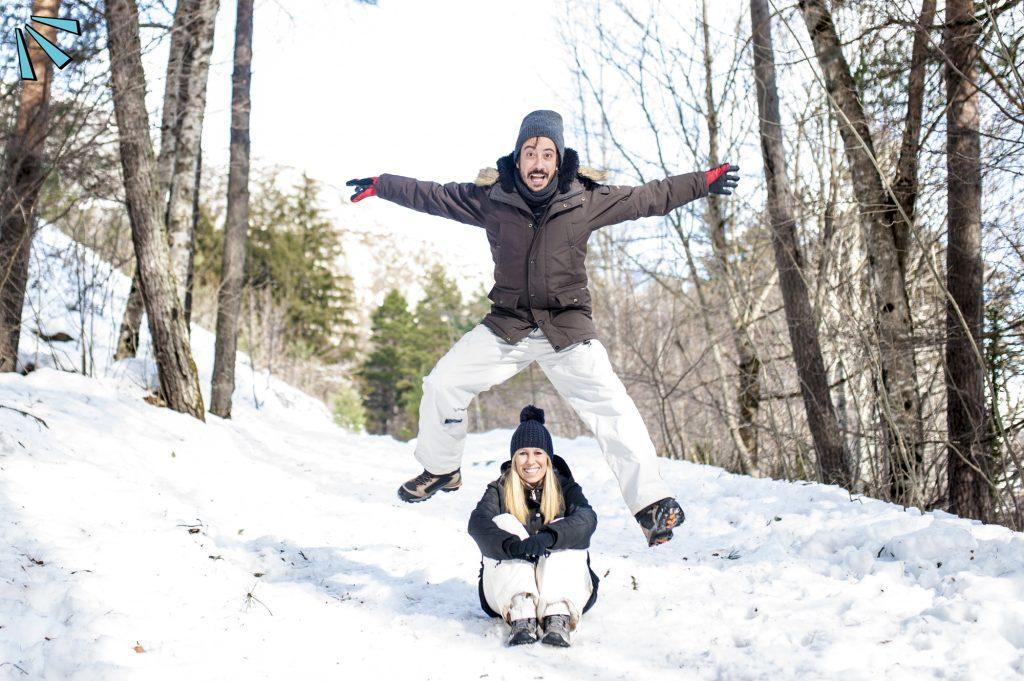 Fotos de boda en la nieve