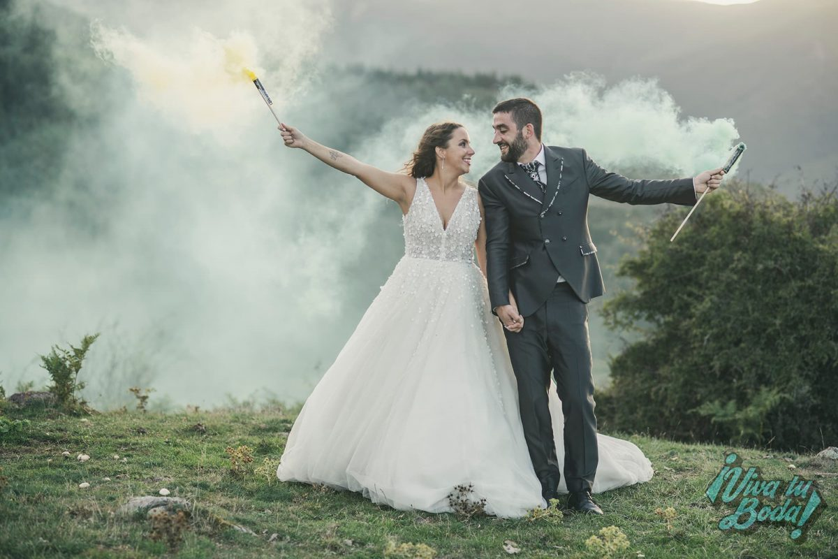 Reportaje de boda con las fotos realizadas en la montaña en La Rioja